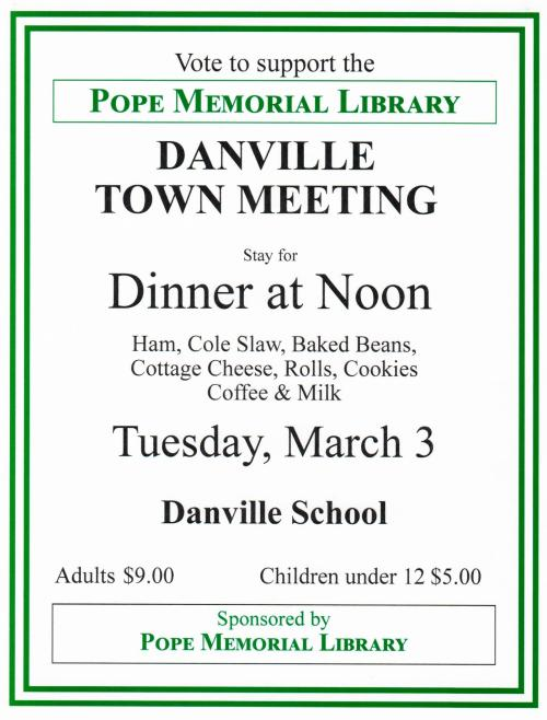 Town Meeting and Ham Dinner
