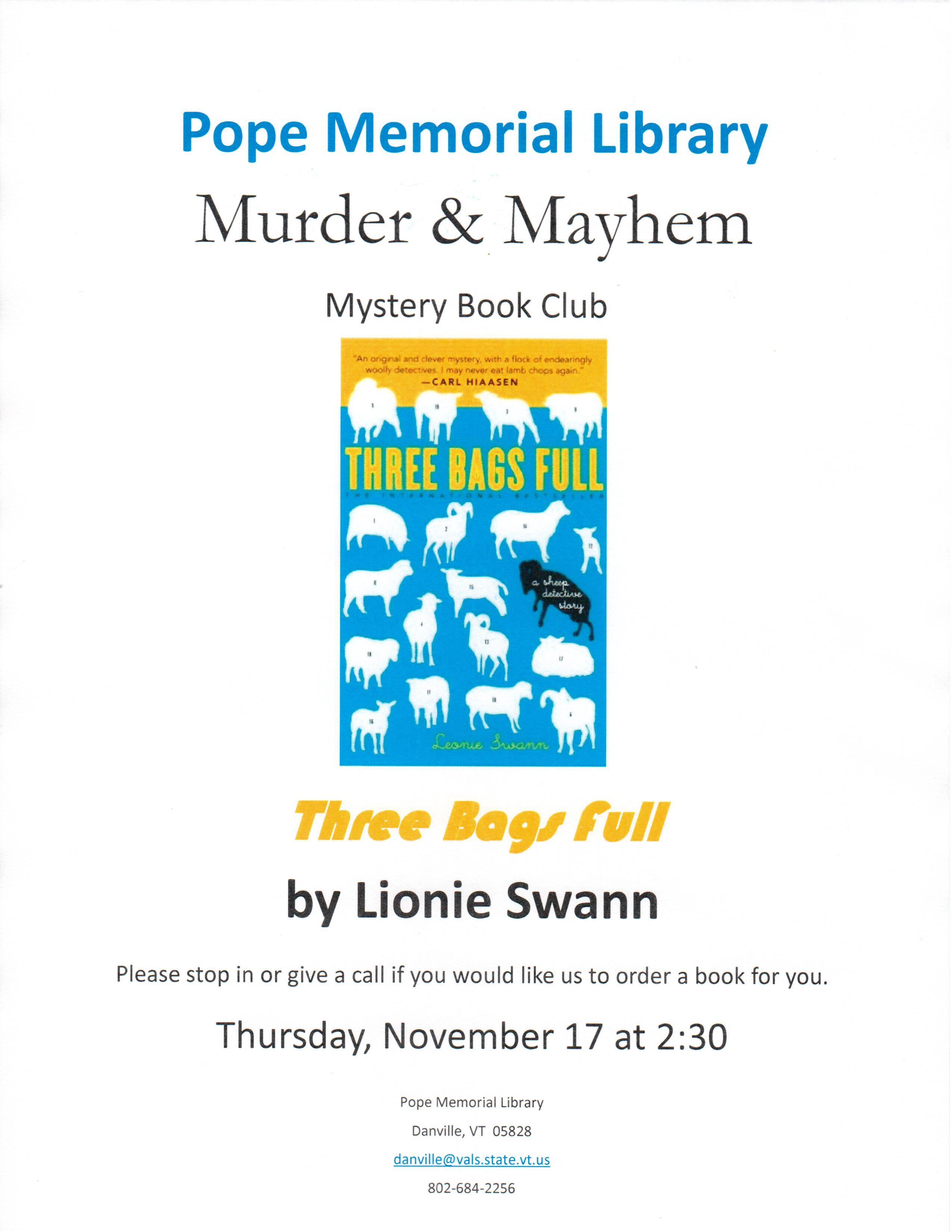 Murder & Mayhem Book Club